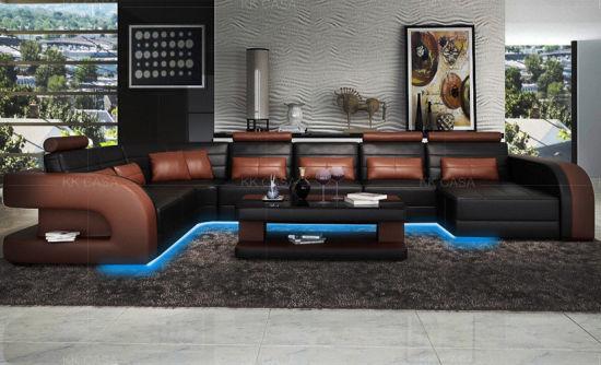 Modern Big Sofa With Led Furniture