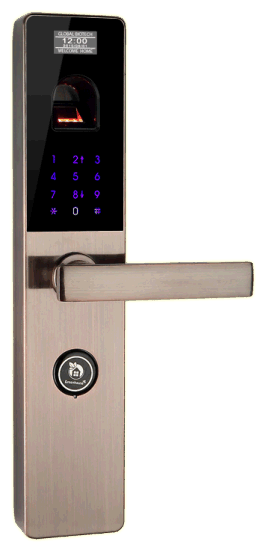 Zinc Alloy Smart Fingerprint Door Lock with Password/Key pictures & photos