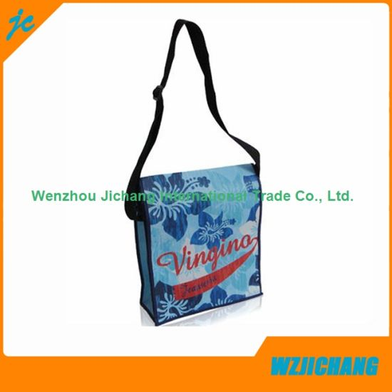 Adjustable Strap PP Laminated Non Woven Promotional Shoulder Bag pictures & photos