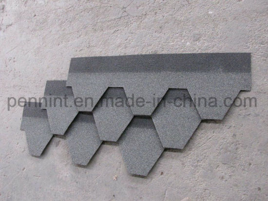 Hexagon Mosaic Asphalt Shingles / Bitumen Roofing Sheet Covers pictures & photos