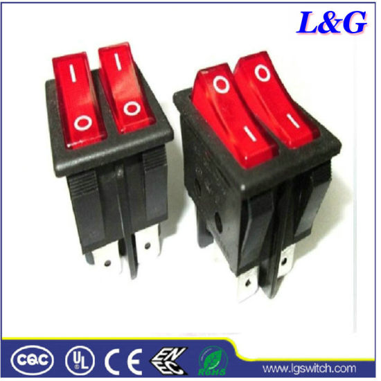 Illuminated on-off T125 Rocker Switch for Ovens