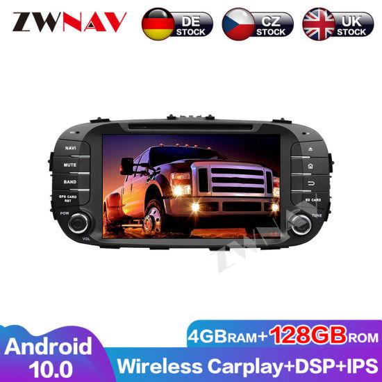 128g Wireless Carplay Android 10 Screen Multimedia Player for KIA Soul 2014 2015 2016 2017 GPS Auto Audio Radio Stereo Head Unit