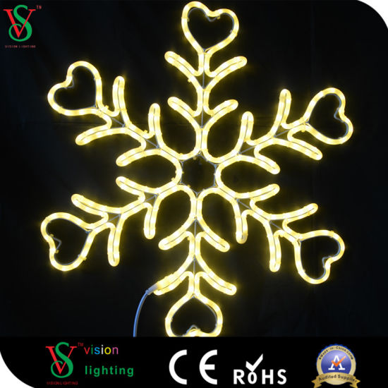 Fairy 2D Snowflakes Motif Light for Christmas Mall Decoration