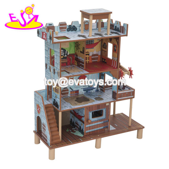 China 2018 New Hottest Miniature Wooden Boys Dollhouse With Pirate