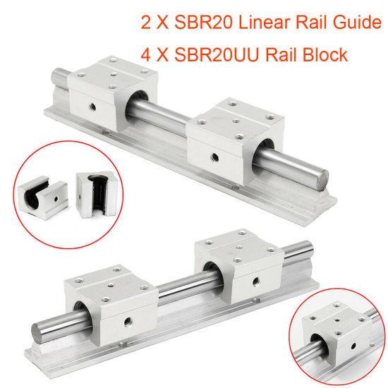 2×SBR20-1500mm Linear Rail Shaft Rod 4×SBR20UU Block Bearing For 3D CNC