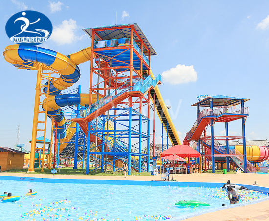 High Safety Diameter 18 M Water Park Slide for Four Players pictures & photos