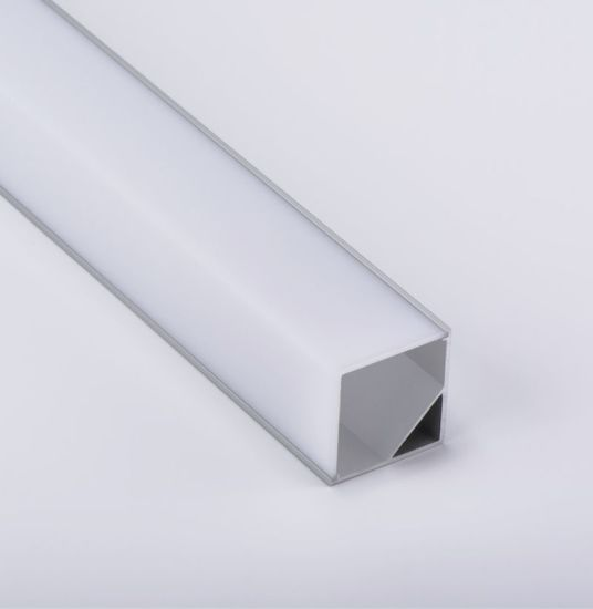 16X16mm V-Shape Vertical Angle Cover Internal Width 12mm Corner Mounting  LED Aluminum Channel with End Caps and Mounting Clips Aluminum Extrusion