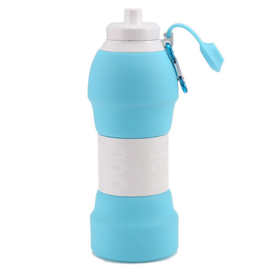 New Large-Capacity Silicone Water Bottle Outdoor Sports Kettle Collapsible 580ml