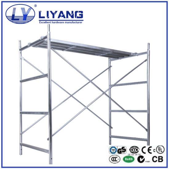China Construction Mobile Platform Steel H Frame Scaffolding - China ...