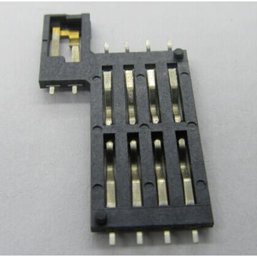 SIM Card Connector 8p with Switch Available with Different Plastic High