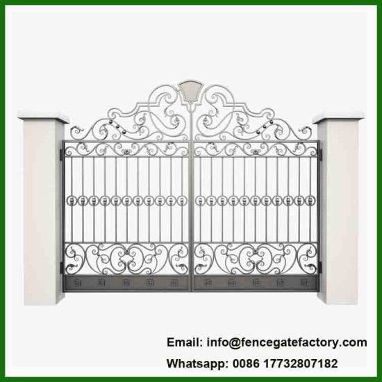 Outdoor Entrance Wrought Iron Big Gates Sale