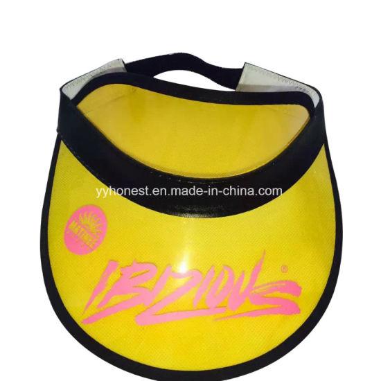 fd4f0e12ac14 China Custom Fashion Cheap Yellow PVC Sun Visor Hat - China Sun ...