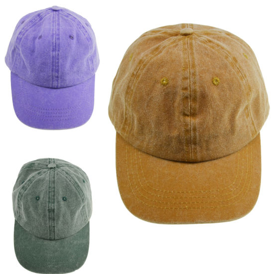 BSCI Distressed Washed Cotton Children Sport Golf Baseball Cap pictures & photos
