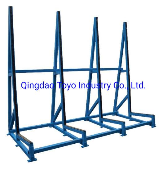 #Glass Storage Rack Glass Trolley Glass Cart Transport with Wheels Barrow - Al