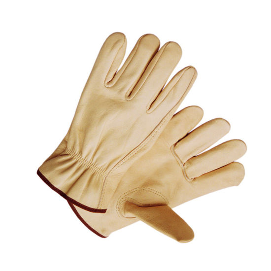 Top Grade Cow Grain Leather Driver Protective Safety Work Glove pictures & photos