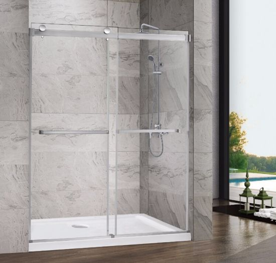 China Square Conrner Shower Doors Sliding Shower Enclosure With 10mm Tempered Glass China Bathroom Shower Enclosure