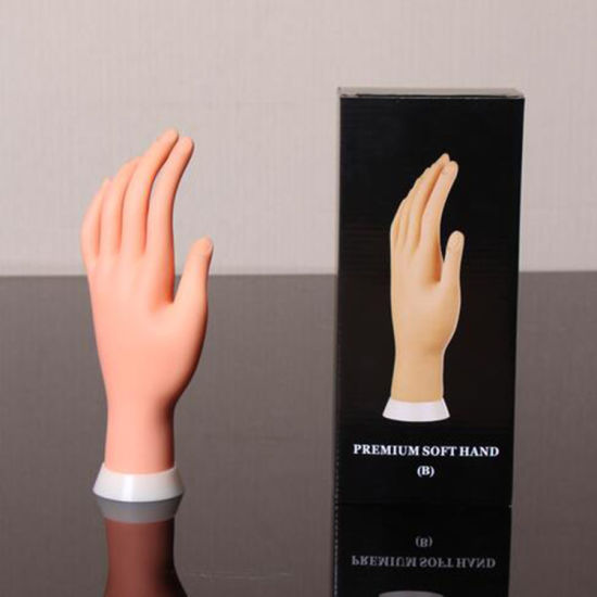 Nail Practice Hand Model Flexible Movable Prosthetic Soft Fake Hands pictures & photos