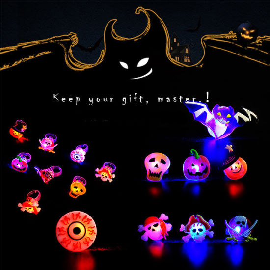 Halloween Glow Lamp LED Flash Soft Rubber Ring Finger Creative Ring Gift Toys for Children pictures & photos