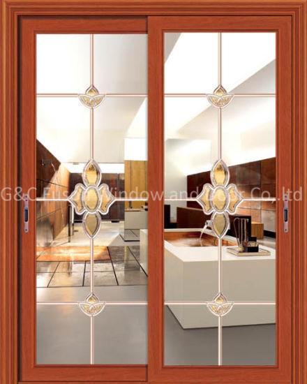 China Aluminium Sliding Patio Doors With Double Or Single Glasses