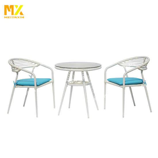 Meiyaxin Outdoor Small Aluminum Glass Coffee Table (accept customized)