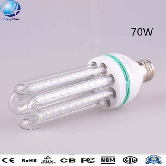 70W E27 6u Highlight Clear Milky Glass U Shape LED Energy Saving Lamp