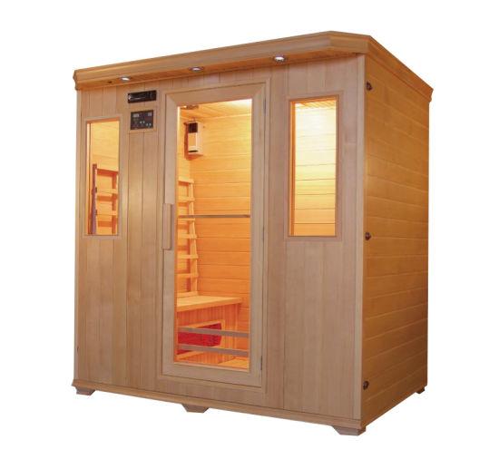High Quality Canadian Hemlock Outdoor Infrared Sauna Room Wholesale