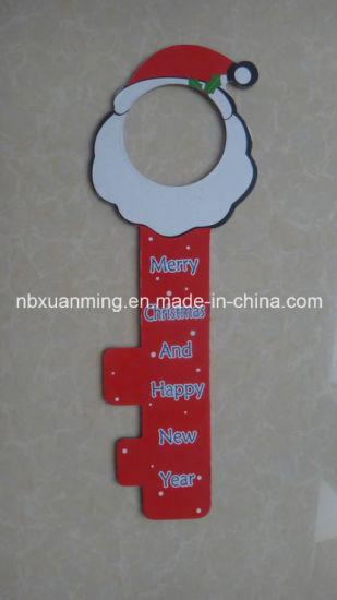 China Christmas Door Knob Hanger With Glitter Xm C 1078 China