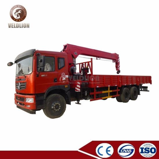 Dongfeng Isuzu Foton Hydraulic Lift 8 10 12 Ton Truck Mounted Mobile Telescopic Boom Crane Truck with Folding Straight Knuckle Boom Crane