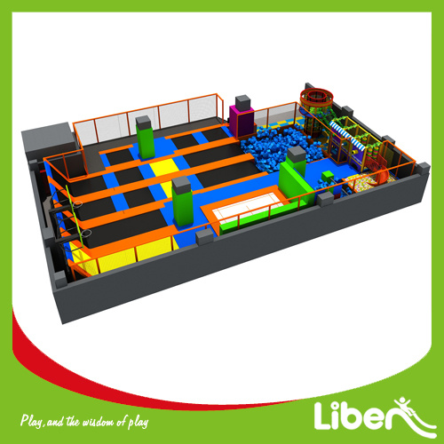 China Indoor Trampoline Arena, Customized Size Indoor Trampoline Park pictures & photos
