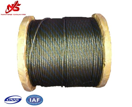 Hardware Ungalvanized Steel Wire Rope 6X37+Sc with One Strand Colour A2