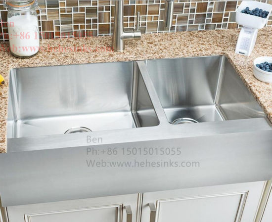 China Stainless Steel A Front Flat Handmade Kitchen Sink