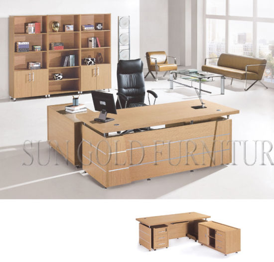 Office Table With Side Desk Drawers Sz Oda1009