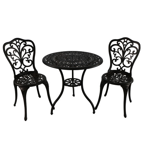No Folded and Outdoor Furniture General Use Cast Aluminum Table Set