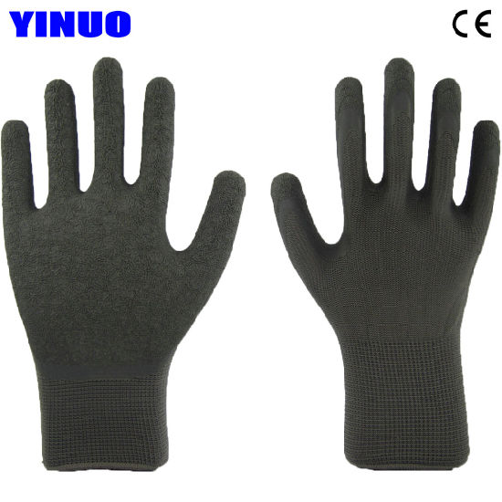 13G Polyester Liner Palm Coated Latex Gloves
