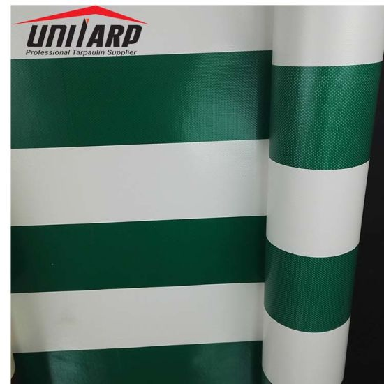 China Colorful Printing Striped Vinyl Tarp PVC Laminated ...