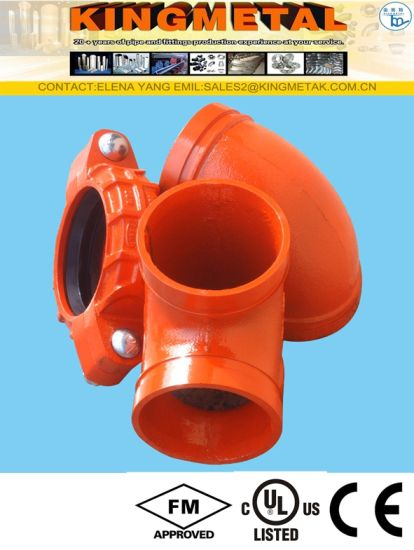FM UL Ductile Iron Fire Fighting Grooved Rigid Flexible Couplings Pipe Fittings