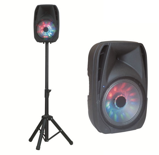 15 Inch Colorfult Trolley Stage Speaker with Portable Stands F-19d