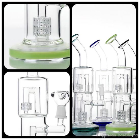 China Pipes pipe Glass pipes Glass DAB Rigs with Double Recycler and