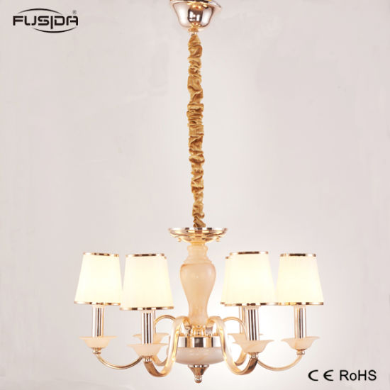 China Home Decoration Iron Glass Bronze Chandelier and Pendant Light ...