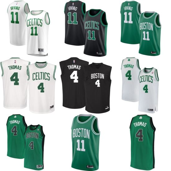 super popular 613a9 043f3 Boston Celtics Kyrie Irving #11 Isaiah Thomas #4 Classic Edition Basketball  Jerseys