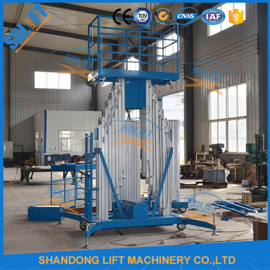 200kg 8m Aluminum Telescopic Man Inclined Platform Lift pictures & photos