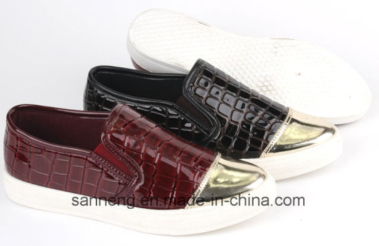 Fashion Women Shoes / Leisure Footwear with PVC Injection Outsole (SNC-49038) pictures & photos