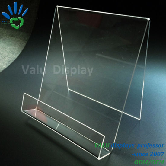 Acrylic Book Stand, Acrylic Book Easel with Lip, Acrylic Portable Book Display Stands pictures & photos