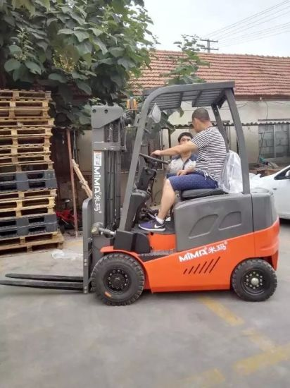 Electirc 4-Wheel AC Forklift with Max. Lift Height 6.0m pictures & photos