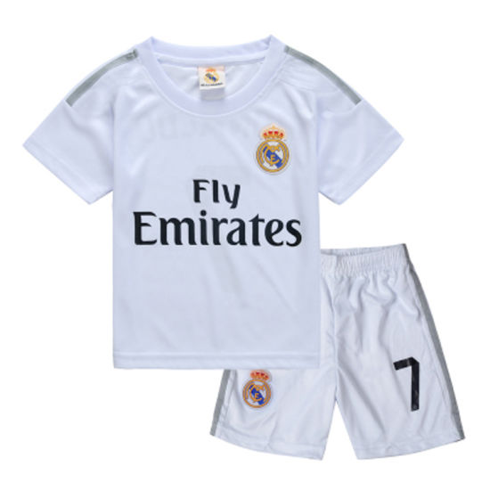 watch 9772f 2dc1f China 2015-2016 New Real Madrid Home Kids Soccer Jersey ...