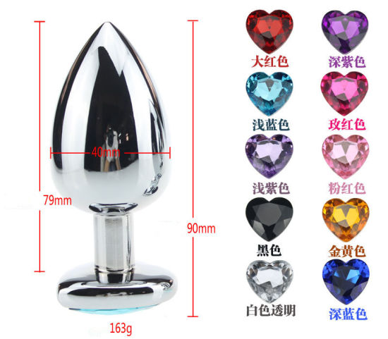 Heart Shaped Stainless Steel Crystal Jewelry Anal Plug Sex Toys pictures & photos