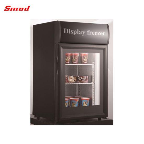 Commercial Tabletop Mini Glass Door Display Ice Cream Upright Freezer