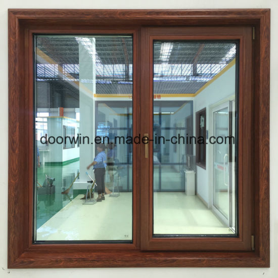 Thermal Break Aluminum Window with Wenge Wood Clading