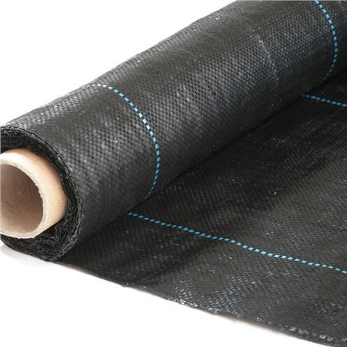 Stop Ground Cover Fabric Woven Membrane 100gsm QVS Shop 2M X 10M Heavy Duty Weed Control