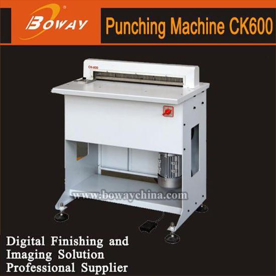 China Manufacturer Factory Ck600 Heavy Duty Hole Punching Machine for Book Binder pictures & photos